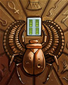 Shiny Scarab Badge - Mahjong Escape
