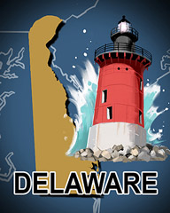 Delaware Badge - Poppit! Party