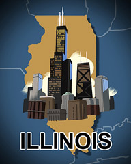 Illinois Badge - Poppit! Party