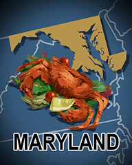 Maryland Badge - Poppit! Bingo