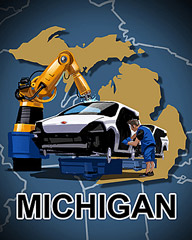 Michigan Badge - StoryQuest