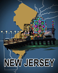 New Jersey Badge - Jet Set Solitaire