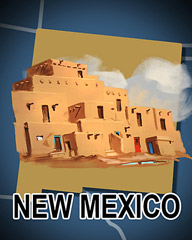 New Mexico Badge - Poppit! Party