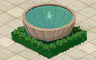 Fountain With Grass Badge - Solitaire Gardens
