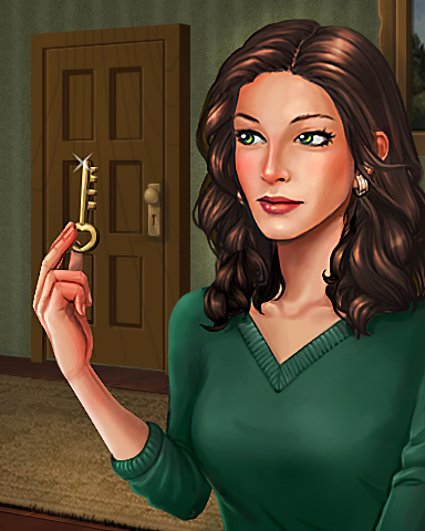 Key To The Case Badge - Claire Hart: Secret In The Shadows
