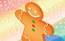 Gingerbread Man Badge - Solitaire Gardens