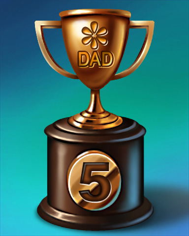 Father's Day Race Lap 5 Badge - Quinn's Aquarium