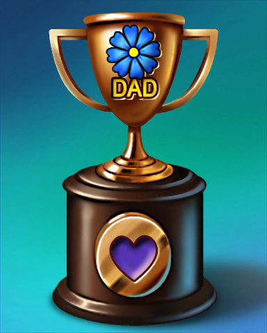 Pogo Father's Day Race Victory Badge