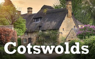 Cotswolds Postcard Badge - Postcards From Britain