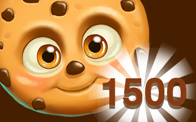 Chocolate Cookie 1500 Badge - Cookie Connect