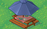 Classic Picnic Table With Umbrella Badge - Solitaire Gardens