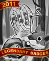 Squirrels In Spades Badge - First Class Solitaire