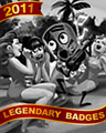 Solitaire Luau Badge - Solitaire Gardens