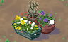 Mixed Flower Pots (bright) Badge - Solitaire Gardens