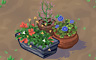Mixed Flower Pots (rich) Badge - Solitaire Gardens