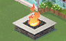Square Fire Pit Badge - Solitaire Gardens