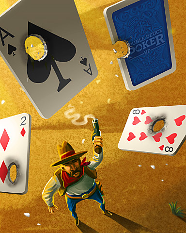 Card Targets Badge - Double Deuce Poker HD