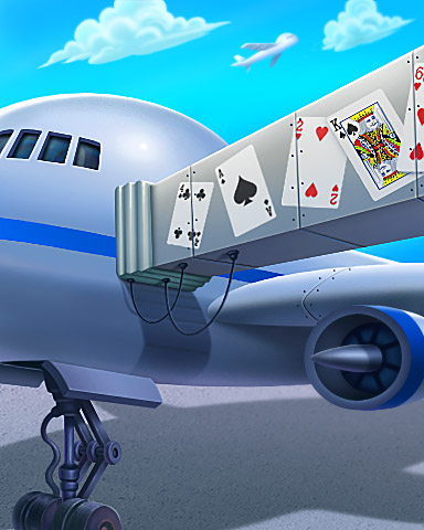 Now Boarding Badge - Jet Set Solitaire