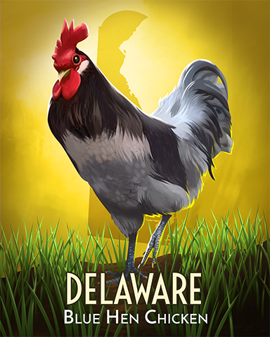 Delaware Blue Hen Badge - Claire Hart: Secret In The Shadows