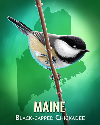 Black-capped Chickadee Badge - A Way With Words