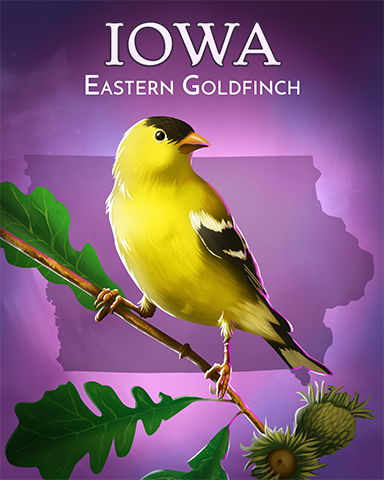 Eastern Goldfinch Badge - Pogo™ Sudoku