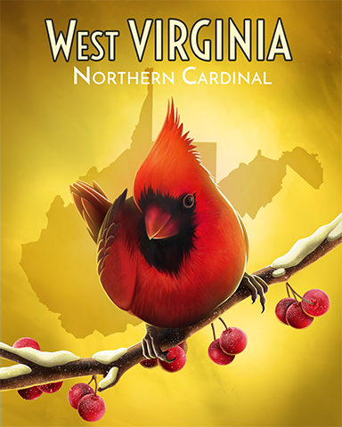 West Virginia Northern Cardinal Badge - StoryQuest