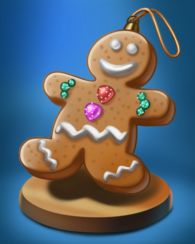 Ginger Bread Man Badge - Jewel Academy