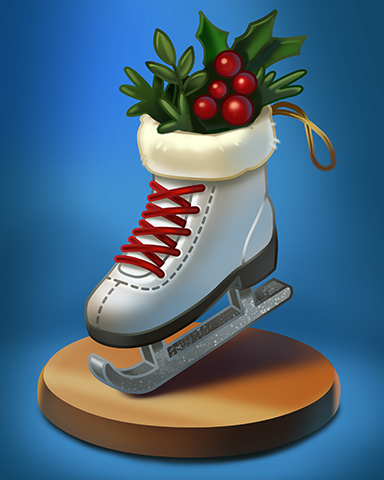 Ice Skate Badge - Double Deuce Poker HD