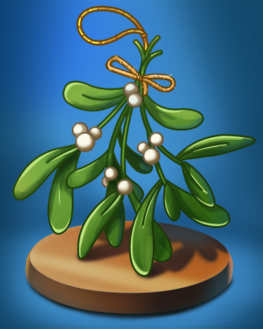 Mistletoe Badge - Quinn's Aquarium