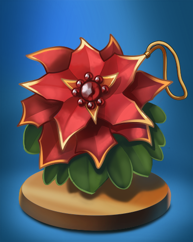 Poinsettia Badge - Claire Hart: Secret In The Shadows