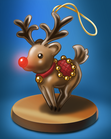 Reindeer Badge - Word Whomp HD