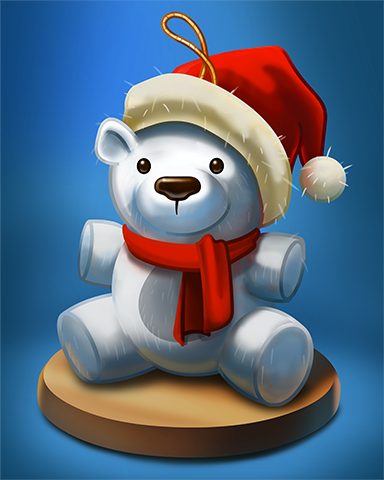 Santa Teddy Badge - Poppit! Bingo