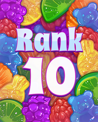 Rank 10 Badge - Sweet Tooth Town