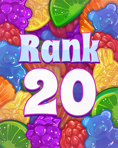 Rank 20 Badge - Sweet Tooth Town