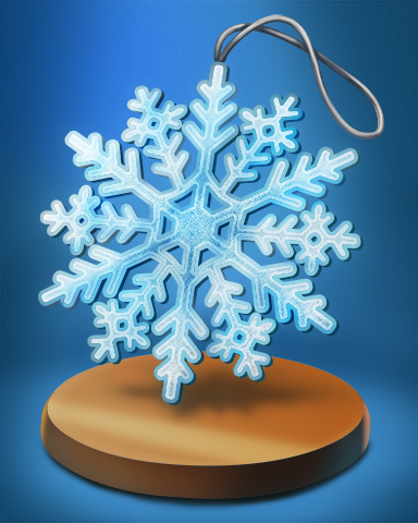Snow Flake Badge - Poppit!™ HD