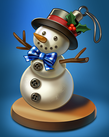 Snow Man Badge - Crossword Cove HD