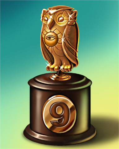 Owl Run Lap 9 Badge - StoryQuest