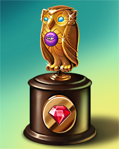 Pogo Owl Run Victory Badge