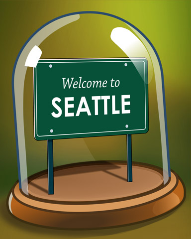 Seattle Souvenir Badge - Cross Country Adventure