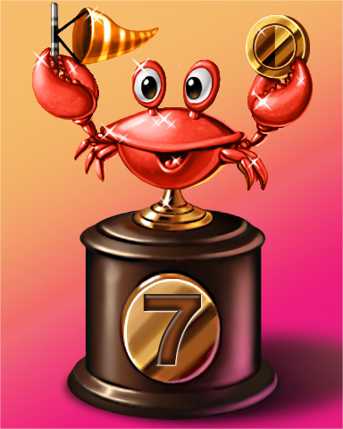 Crab Cup Lap 7 Badge - Quinn's Aquarium