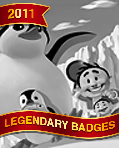 Penguin Pals Badge - Spades