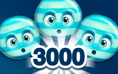 Blue Cookie 3000 Badge - Cookie Connect