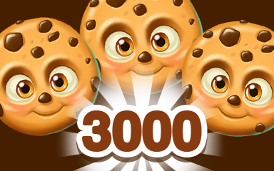 Brown Cookie 3000 Badge - Cookie Connect