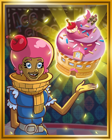Gold Ice Cream Shop Badge - Sweet Tooth Town