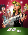 Dealer's Shuffle Badge - Texas Hold'em Poker