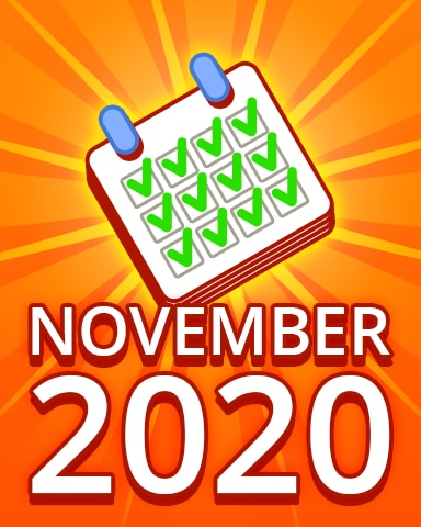 All Puzzles November 2020 Badge - Pogo Daily Sudoku