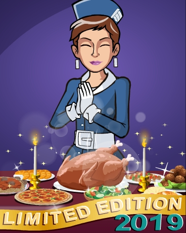 2019 Thanksgiving Limited Edition Badge - Jet Set Solitaire