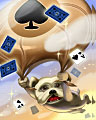 Parachutin' Pooch Badge - Spades HD