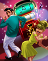 Hoppin' Around Badge - Sock Hop Slots