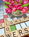 Flowers For 13 Points Badge - SCRABBLE